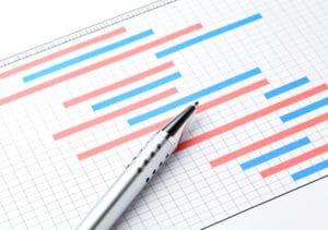 Projektplan ritning på bord